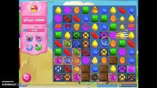 Candy Crush Level 1585 Audio Talktrhough, 2 Stars 0 Boosters