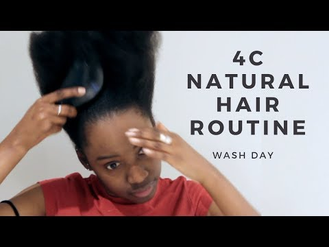 4C Natural Hair Routine | Wash Day