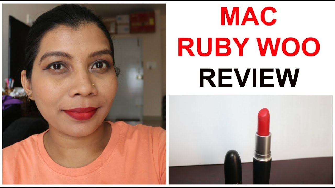 MAC RUBY WOO REVIEW INDIAN SKIN | RED LIPSTICK - YouTube