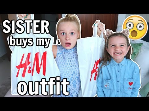 SISTER BUYS MY H&M OUTFIT CHALLENGE! 😱👗 *try on*