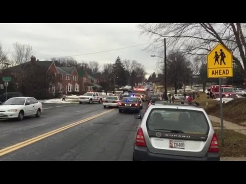 Children struck by car outside Pleasant Plains Elementary School in Towson