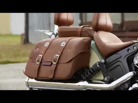Genuine Leather Saddlebags Indian Motorcycle Youtube