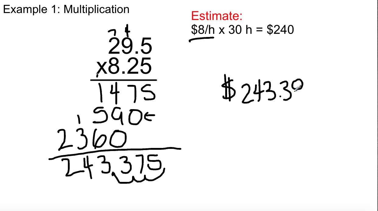 Multiplying And Dividing Decimals Worksheets Grade 8