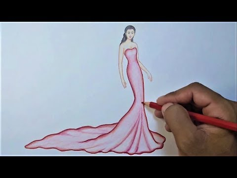 Fashion Drawing Fashion Designer Drawing Step By Step Youtube