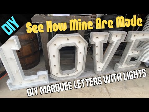 DIY Marquee Letters With Lights - Easy Diy Wedding Ideas - Wood Love Letters