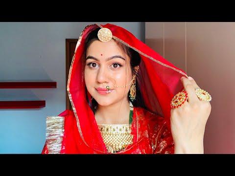 जोधा अकबर inspired look // aishwarya rai inspired jodha akbar makeup look // jodha akbar bride look - 동영상