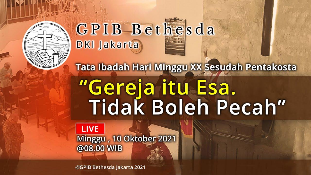Ibadah Hari Minggu XX Sesudah Pentakosta (10 Oktober 2021)