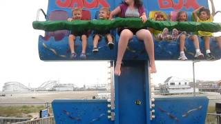 Giovanni and Anthony on the Jack in the Box ride in Wildwood