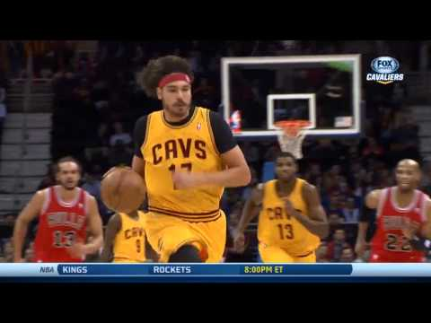 Anderson Varejao fake behind the back pass , finishes with dunk vs