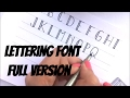 Upper case Lettering Font | Easy Step by step guide  | Font - 3
