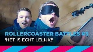 Geblinddoekt tekenen in wildwaterbaan – Rollercoaster Battles #3 | SLAM!