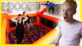 INSANE INDOOR BOUNCY HOUSE!! (+ball pit!)