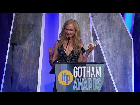 Nicole Kidman accepting a Gotham Tribute at the 2017 IFP Gotham Awards