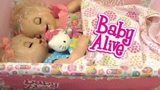 BABY ALIVE Learns to Potty  Doll sneaks out of bed to eat a Snack!  Feeding and Changing Video!