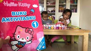 Home Schooling #3 | Belajar Warna dan Tulis dengan Buku Aktivitas HELLO KITTY | Review Buku Anak