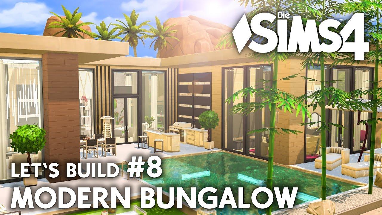 Haus bauen modern bungalow  Pool Bereich | Die Sims 4 Haus bauen | Modern Bungalow #8 - Let's ...