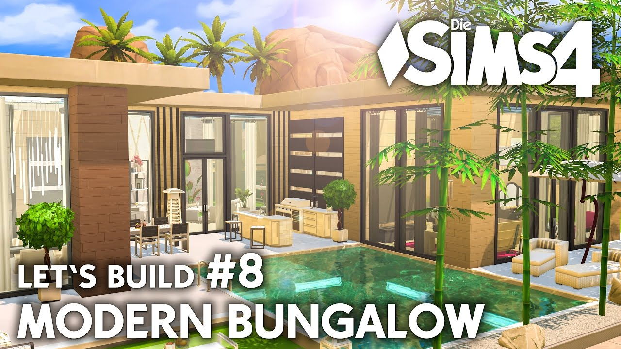 Pool Bereich Die Sims 4 Haus Bauen Modern Bungalow 8 Let S