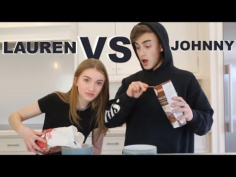 no recipe baking challenge (Lauren Vs Johnny)