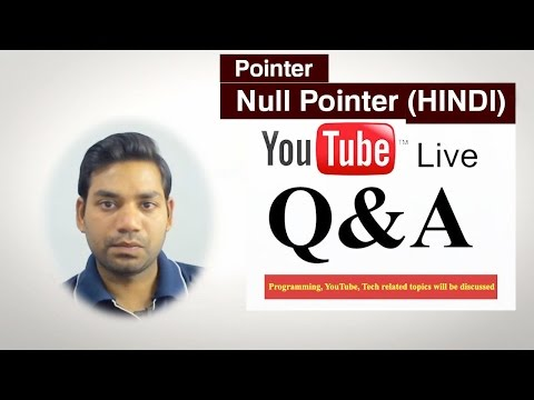 Null Pointer,  Pointer Referencing And Dereferencing In C/C++ (HINDI)