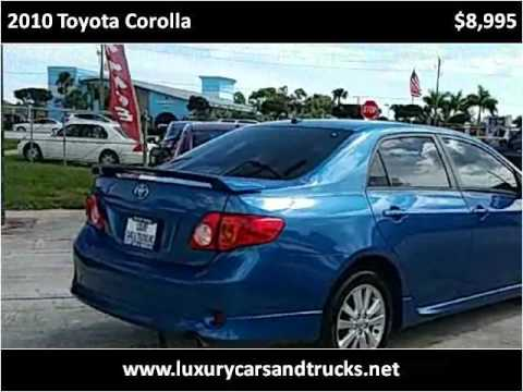 Attractive 2010 Toyota Corolla Used Cars Port St. Lucie FL