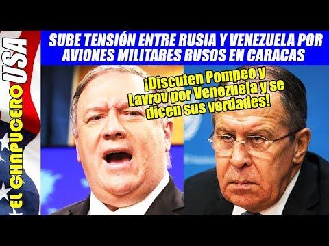 Enfurecido EU por aviones rusos en Venezuela, Pompeo acaba discutiendo con Lavrov