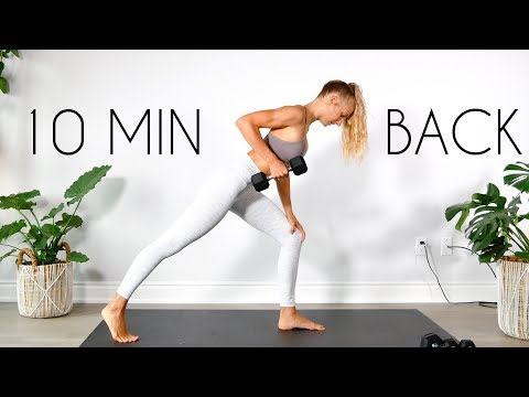 10 min Intense BACK WORKOUT (At Home & Apartment Friendly)