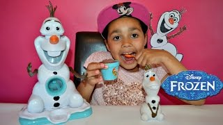 FROZEN Disney Olaf Snow Cone Maker - Frozen Toy Video | Toys AndMe