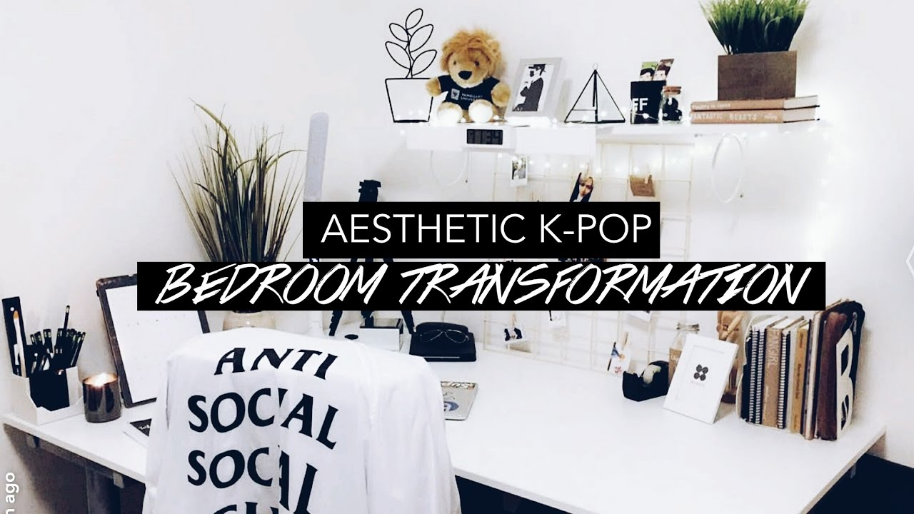 my aesthetic bedroom // Room Makeover VLOG - YouTube on Room Decor Aesthetic id=58763