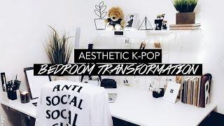 my aesthetic bedroom room makeover vlog