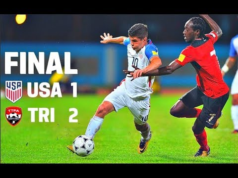 Usa Vs Trinidad Tobago Goals And Highlights Fail To Qualify The 2018 World Cup