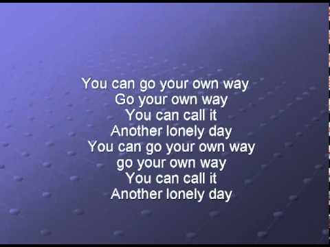 Go Your Own Way Lyrics Deutsch