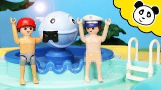 Playmobil Polizei - Kevin spielt Streiche im Schwimmbad - Playmobil Film