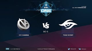 Grand Finals [RU] Team Secret vs Vici Gaming | Bo5 | ESL One Hamburg 2018 by @Tekcac