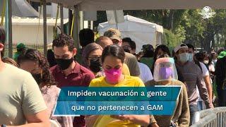 Las autoridades impidieron que las personas que no pertenecen a GAM se vacunen en esa sede
