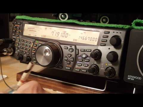 Kenwood TS-2000  Contact with ZS3D South Africa 0400utc 1/21/2017