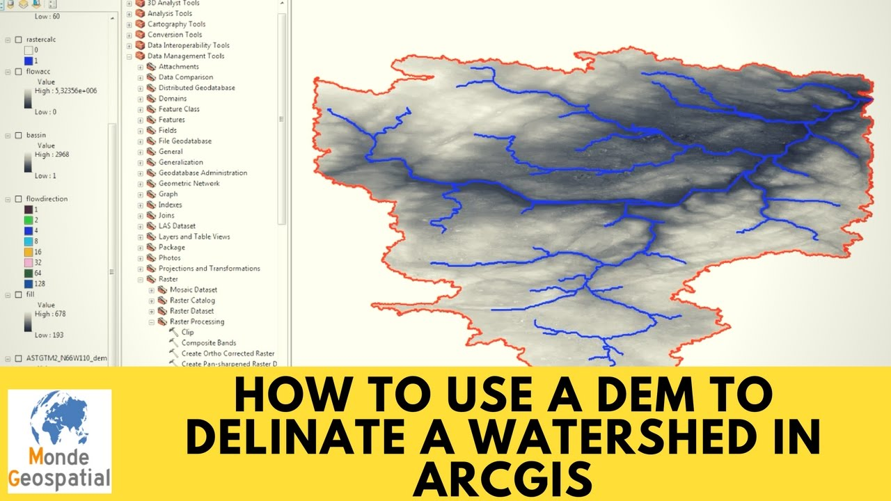 how to create dem in arcgis