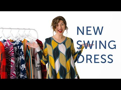 NEW LuLaRoe V-Neck Swing Dress - The Emily