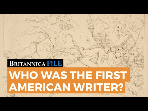 Who was the first American writer?