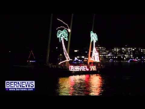 Spirit Of Bermuda In Bermuda Boat Parade, Dec 7 2013