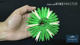 3D ORIGAMI FLOWER VASE CRAFT AND COLOR PAPER PEN HOLDER