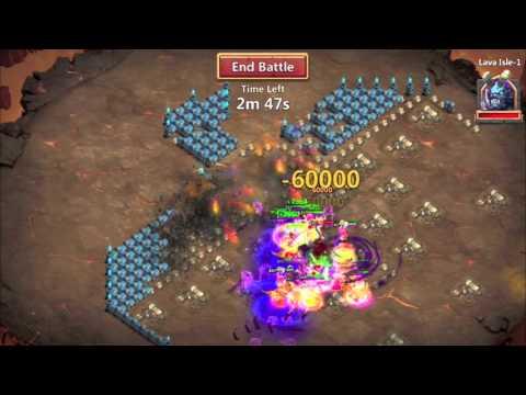 Castle Clash: Easily Farming Lava Isle 1!
