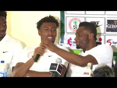 ROAD TO RUSSIA 2018:  Watch what Mikel, Iwobi And Aina Did At Press Conference