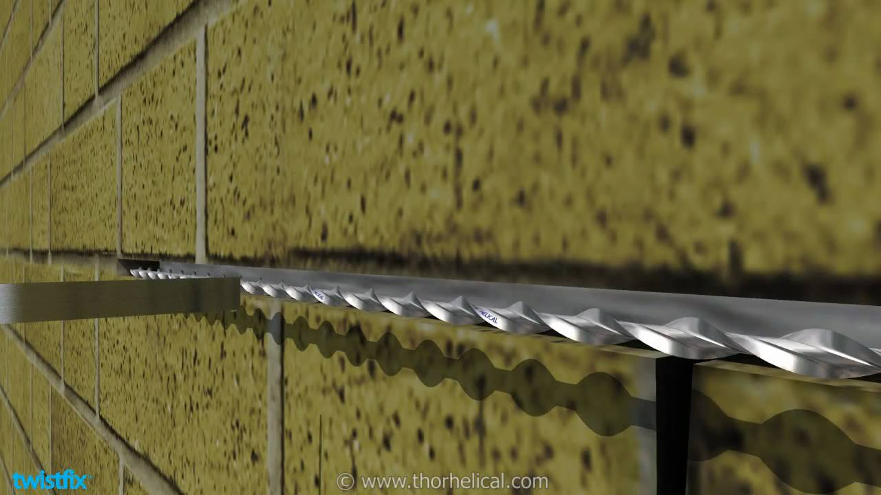 Masonry Repairs With Helical Bars Youtube