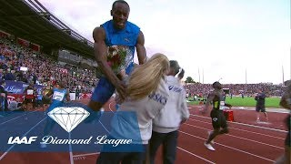 When Usain Bolt crashed into a flower girl in Oslo in 2012 - Flashback