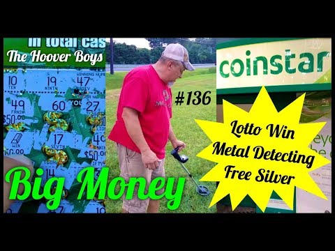 Lotto Win, Metal Detecting, Coinstar Silver Score! #136 Big Money