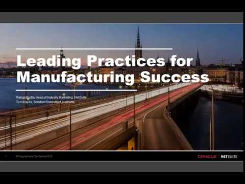 Demo: Leading Practices for Manufacturing Success