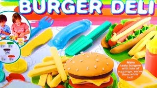 Dough Burger Deli Set Play Doh Hamburger Hot Dog French Fries How To Make Playdough Fast Food