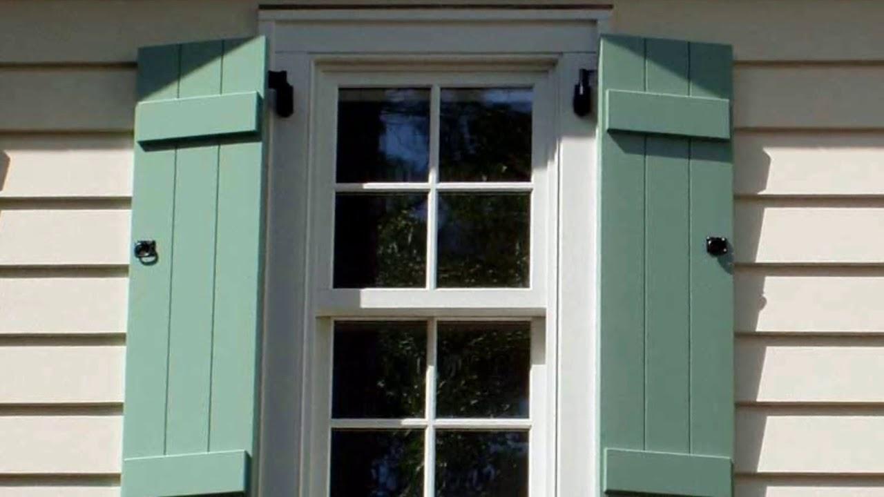 house window shutters red brick outside window shutters for home ideas youtube