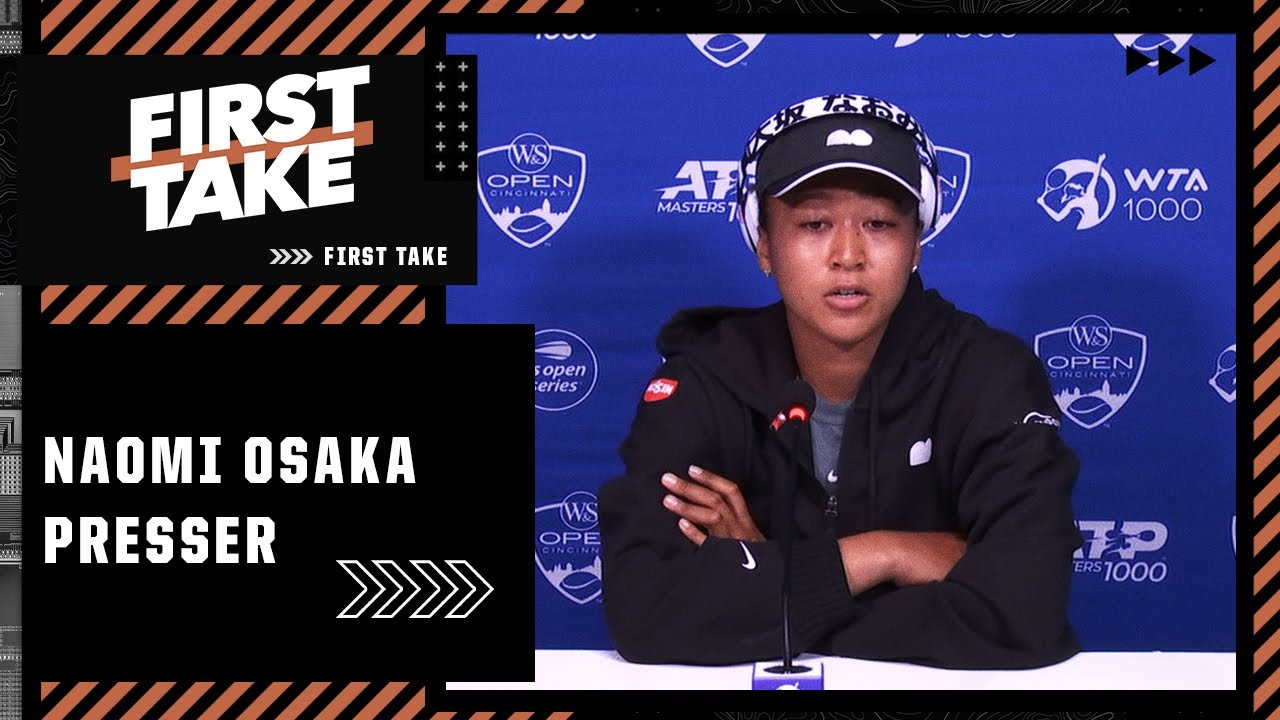 Download Naomi Osaka steps away from news conference after exchange with reporter