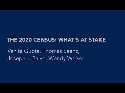 The 2020 Census: What's at Stake